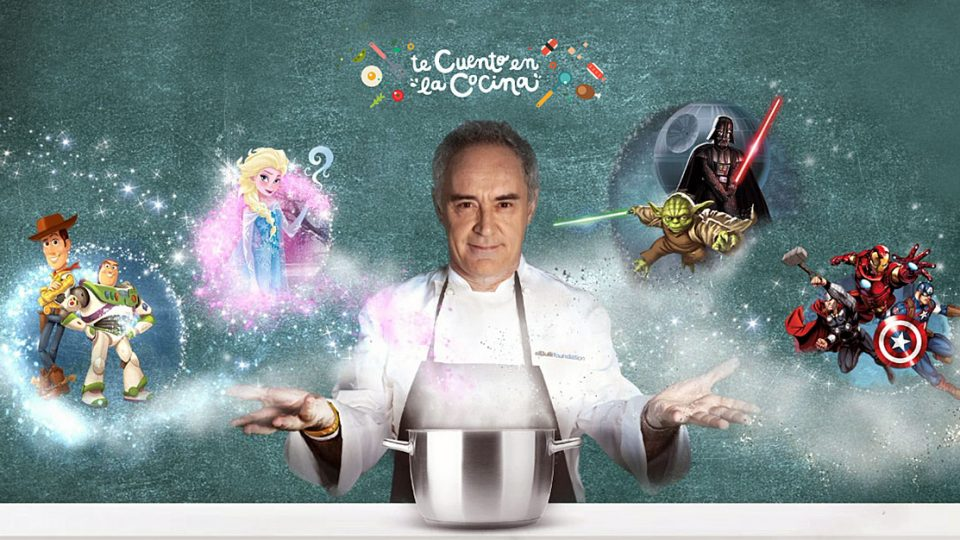 "Walt Disney Company and the renowned chef Ferran Adriá, have created the story ""I'll tell you it in the kitchen"", so children will learn healthy eating"